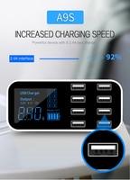 Universal Multi-Port USB Ladegerät Für Auto 8-Port Auto Leichter Ladestation Hub Mit Led-anzeige Ultra-dünne USB Auto Ladegerät