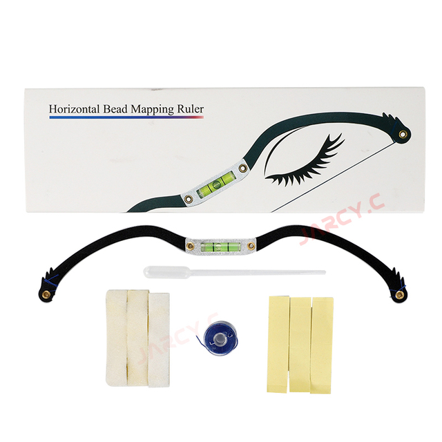 newest Eyebrow ruler microblading Mapping string marker Permanent Makeup microblading supplies with Mapping thread pre-inked 5