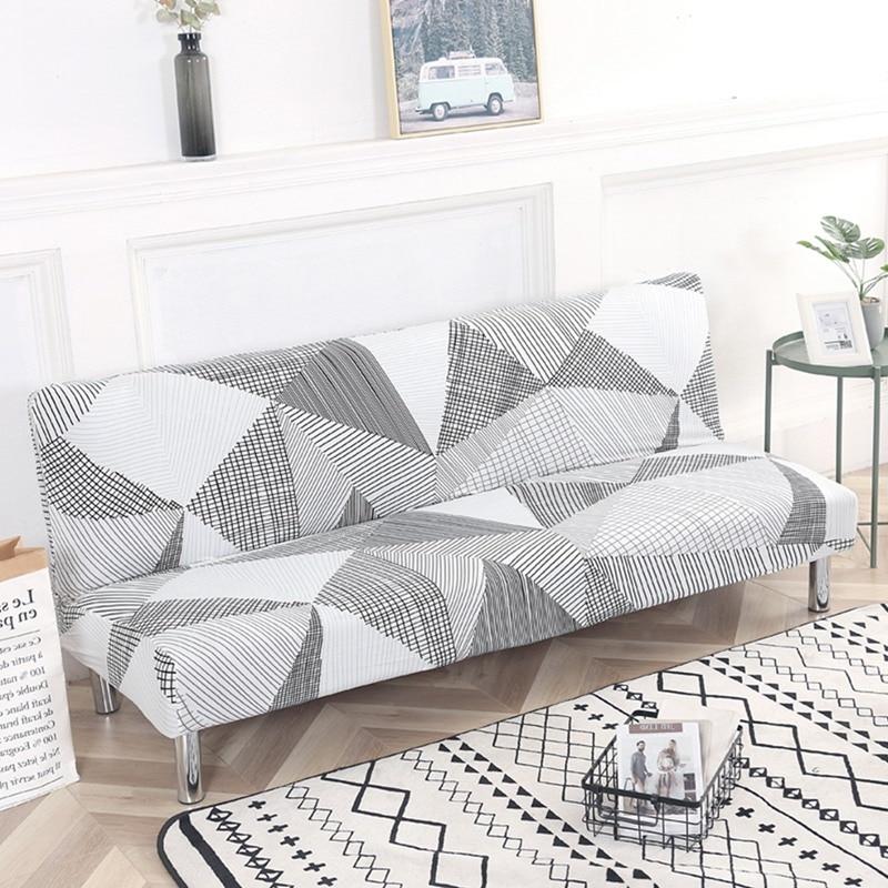 sofá slipcover elástico estiramento all-inclusive mobiliário slipcovers capa de sofá