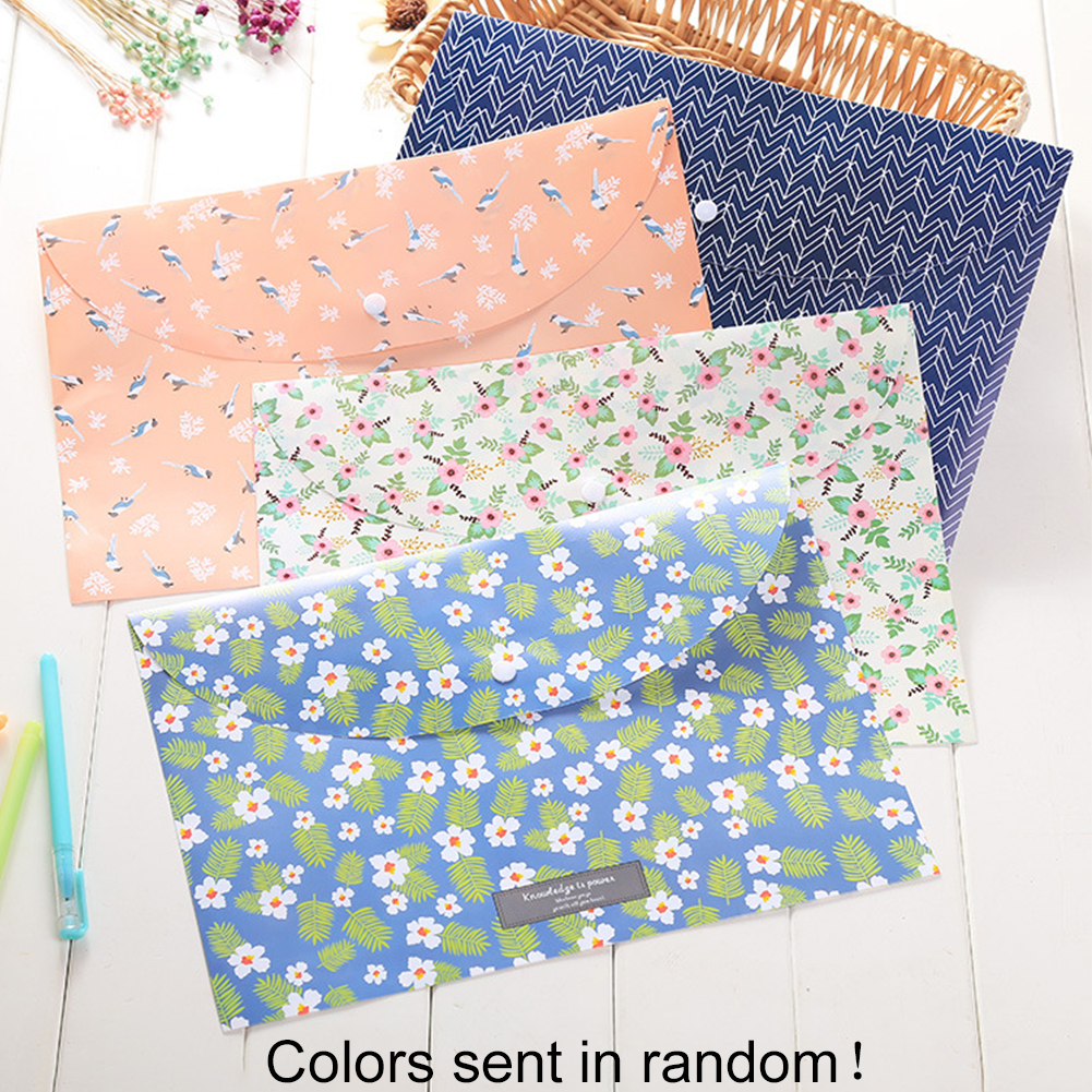 Document Office Portable School Organizer Folder Lightweight Floral File Bag Expanding