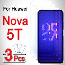 Para huawei nova 5 t filme protetor de tela capa do telefone 5 t t5 blindado huwei hawei huawey huawie 1-3 peças huawei nova 5 t vidro