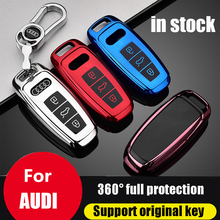 ZOBIG Car Key Cover Case Protector Shell Decoration Accessories for Audi A6 C8 A7 A8 D5 2018 2019