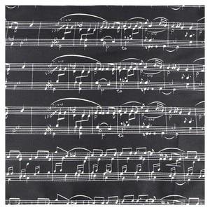 Image 5 - 클래식 패션 남자 손수건 다채로운 뮤지컬 노트 인쇄 피아노 기타 폴리 에스터 포켓 스퀘어 선물 액세서리 Hanky