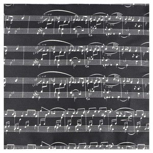Image 5 - Klassische Mode Männer der Taschentücher Bunte Musical Notes Gedruckt Klavier Gitarre Polyester Tasche Platz Geschenk Zubehör Hanky