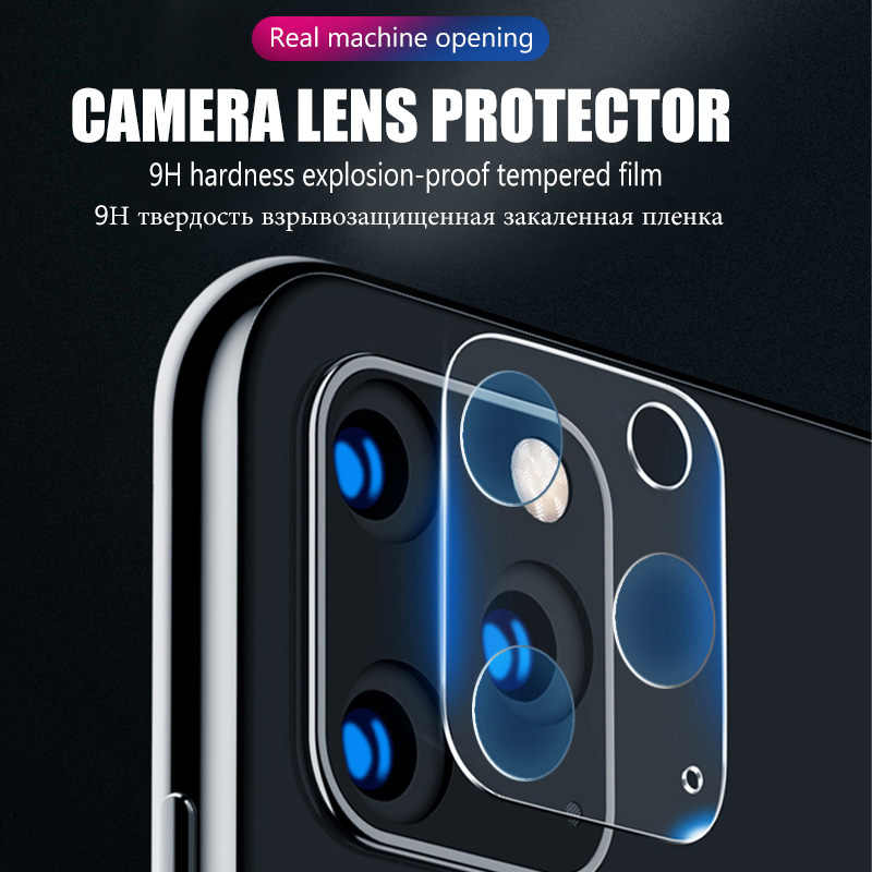 3-1 قطعة كاميرا حماية الزجاج آيفون 11 برو ماكس X XR XS ماكس حامي الشاشة آيفون 11 برو 7 8 Plus SE 2020 عدسة الزجاج