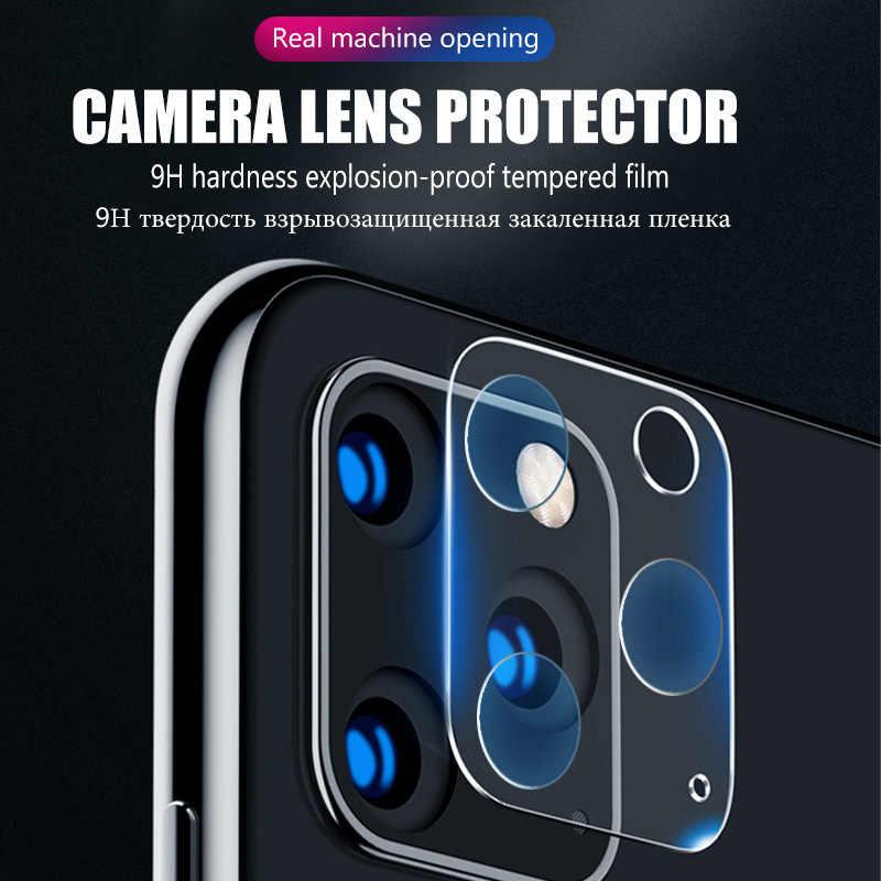 Vidro de proteção de câmera para iphone 11, protetor de tela 3 em 1 peça para iphone 11 pro max x xr xs max 11 pro 7 8 plus se 2020 vidro de lente