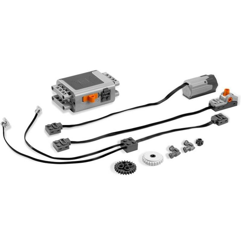 Техническая серия, мотор с электрическим питанием и функциями, набор моделей, строительные блоки, совместимые с Legoinges 8293, развивающие игрушк...