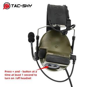 Image 5 - COMTAC III TAC SKYcomtac iii silicone earmuffs electronic noise reduction pickup military tactical interphone shooting headsetFG