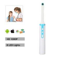 Caméra de dentiste intra-orale WiFi USB, appareil d'inspection vidéo en temps réel, sans fil, 8
