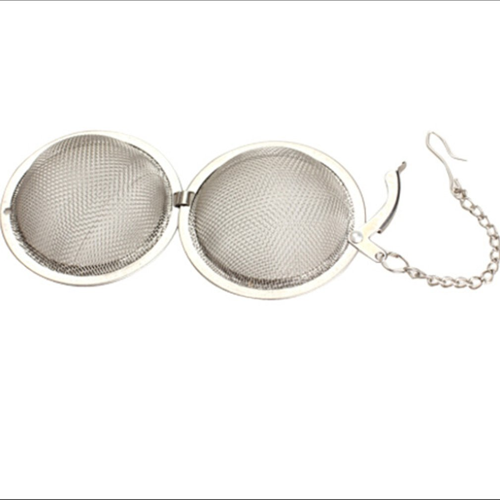 2018 NEWMesh Filter Herbal Ball Cooking Kitchen Tools 304 Stainless Steel Tea Strainer Infuser Tea Locking Seasoning Ball