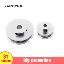 цена на gt2 timing belt pulley 6mm bandwidth gt2 60 tooth 48 teeth bore 5mm 8mm inner hole large pulley 3d printer parts aimsoar