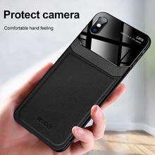 leather texure plexiglass protective shell cover for iphone xr xs max x 10 8 7 6 s plus case on aiphone xsmax rx sx coque fundas