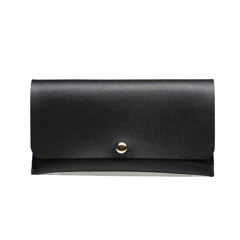 wallet women  leather purse mens genuine PU Unisex Solid Standard Wallets handbag luxury vintage