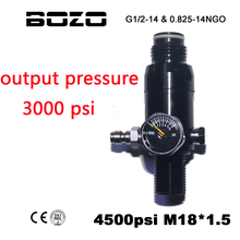 Paintball Airsoft PCP CO2 4500PSI Air Compressed Air Cylinder Tank Regulator Output Pressure 3000 PSI M18*1.5
