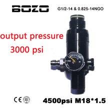 Paintball Airsoft PCP CO2 4500PSI hava basınçlı hava silindir tankı regülatörü çıkış basıncı 3000 PSI M18 * 1.5