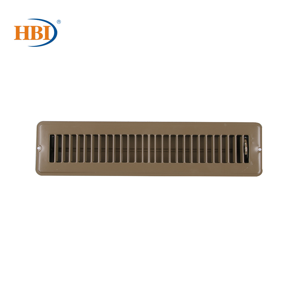"2"" X 14"" Brown Floor Air Register Floor Diffuser With Holes For RV And Home"