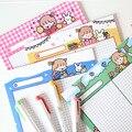 Sixone 30 folhas ins coelho dos desenhos animados bonito menina grade bloco de memorando estudante diário caderno kawaii papelaria material escolar escritório
