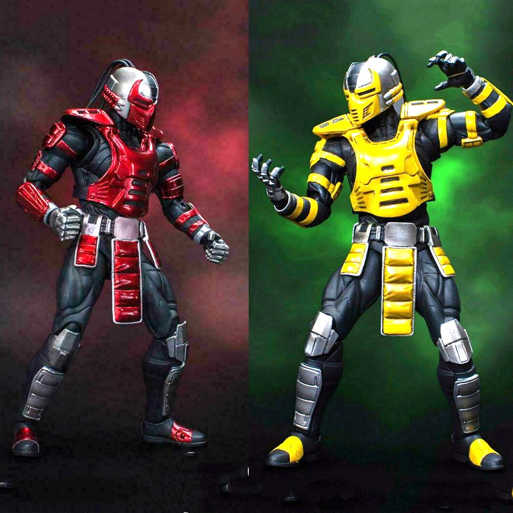 For Collection 15CM  1/12 CYRAX Mortotal Kombat / DCMK002 Mortal Combat Scorpion Figure Set 6'' Doll Model Collection
