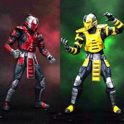For collection 15CM  1/12 CYRAX Mortotal Kombat / DCMK002 Mortal Combat Scorpion Figure Set 6'' Doll Model Collection
