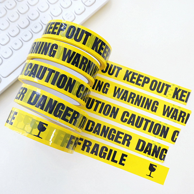 Image 5 - 1/Roll DIY Sticker 24mm*25m Opp Yellow Warning Tapes Caution Barrier Safety Reminder For Home Store Warehouse Factory School-in Warning Tape from Security & Protection