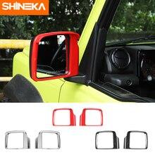 Shineka exterior adesivos para suzuki jimny 2019 + espelho retrovisor do carro chuva sobrancelha decoração quadro capa para suzuki jimny 2019 +