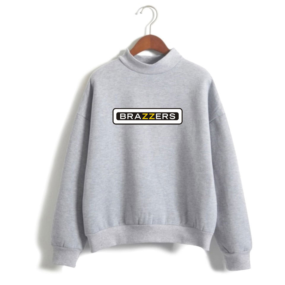 AliExpress Occident Fashion Brazzers New Style Street High Collar Crew Neck Loose-Fit Hoodie Men And Women