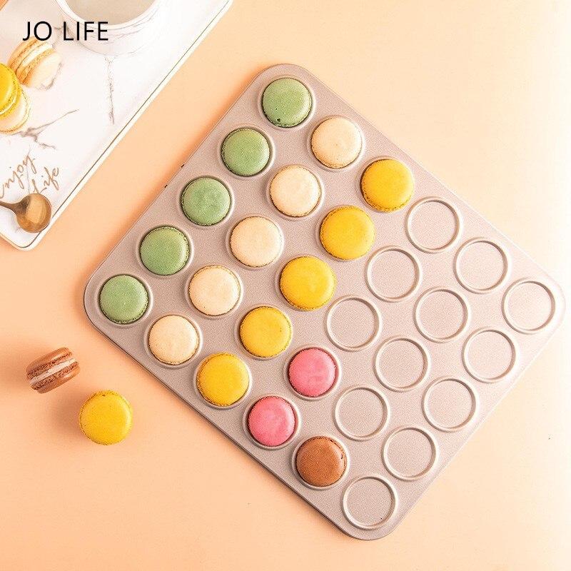 JO LIFE 30Cups DIY Cookie Baking Tray Tools Non-stick Steel Mold Egg Tart Macaron Baking Dish Cake Mould Biscuit Pan