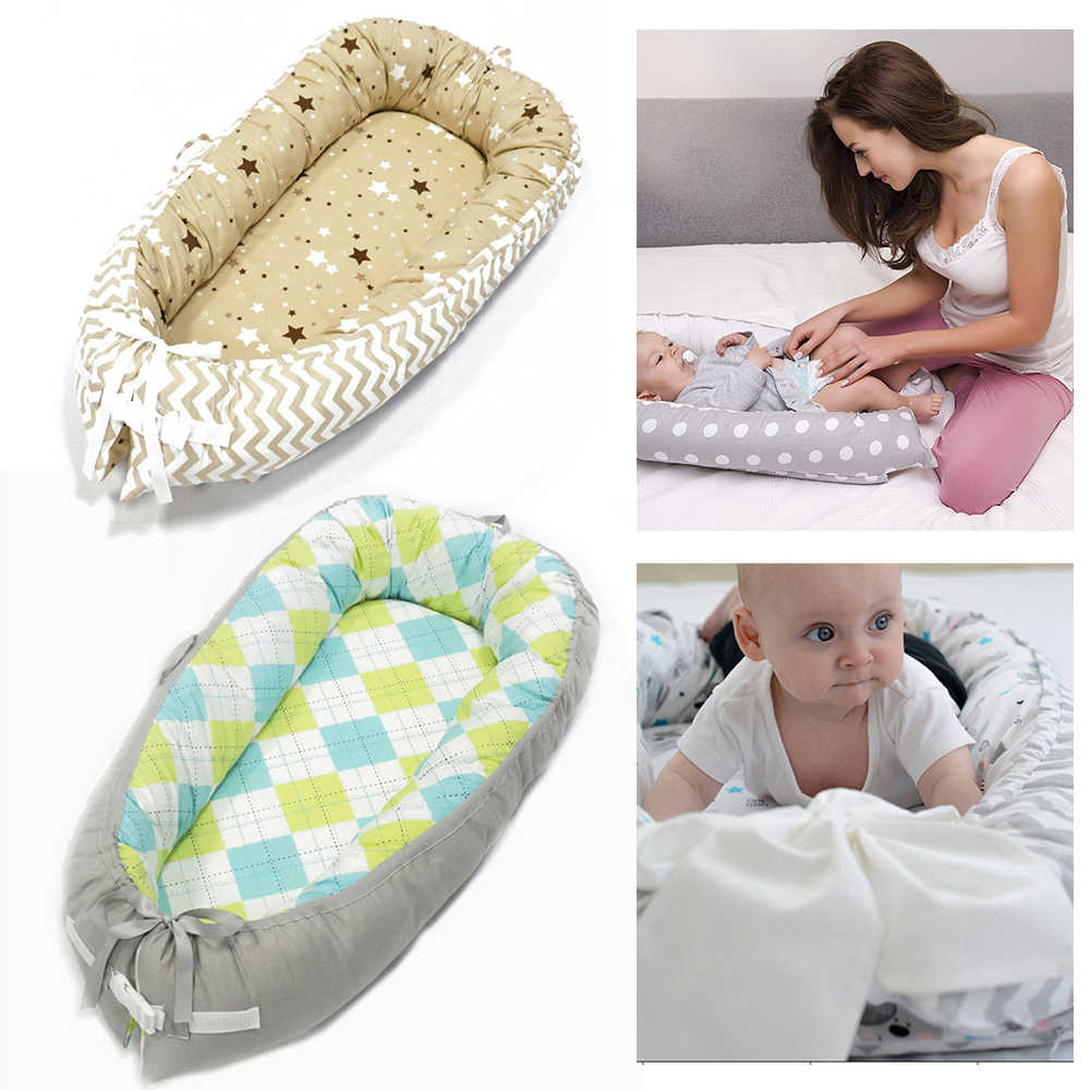 新生児ポータブルベビーベッド旅行ベビーベッドベビー睡眠巣のベッドの綿暖かい快適な折りたたみ新生児バイオニックベッドベビー寝具ギフト