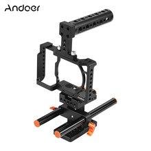 Andoer Kamera Käfig für Sony A6500/A6400/A6300/A6000 Kamera Video Film Film Machen Stabilisator Aluminium Legierung 1/4 zoll Schraube