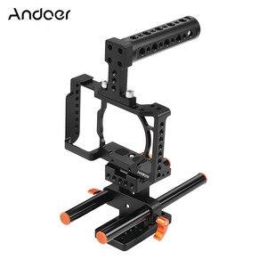 Image 1 - Andoer Kamera Käfig für Sony A6500/A6400/A6300/A6000 Kamera Video Film Film Machen Stabilisator Aluminium Legierung 1/4 zoll Schraube