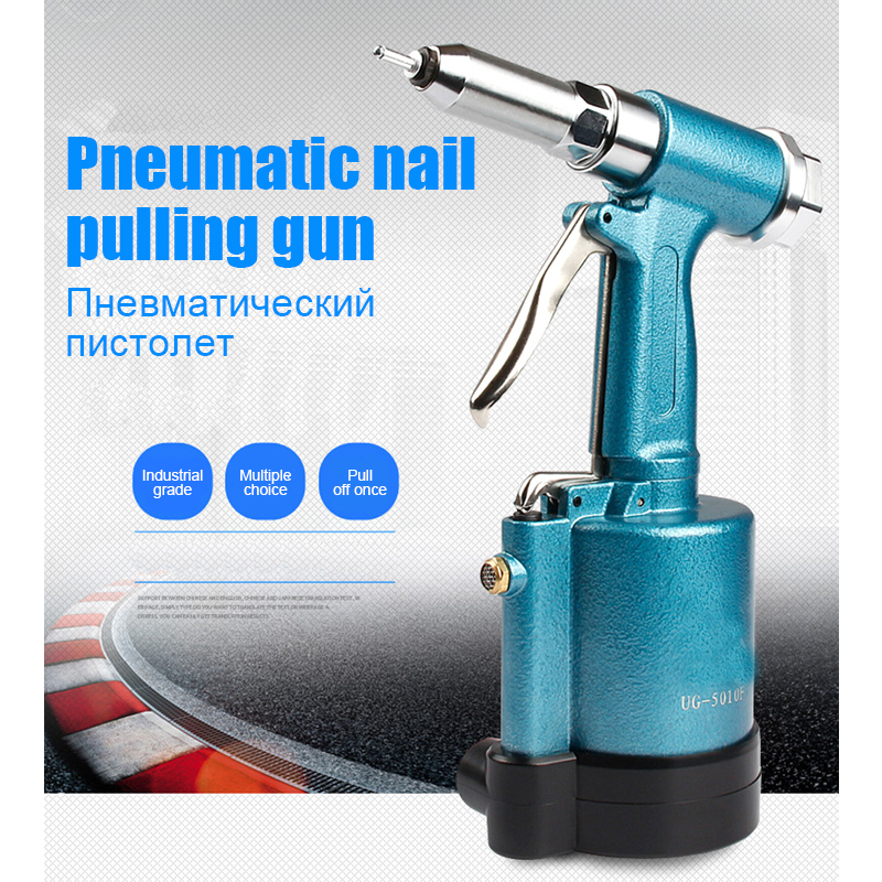 Industrial Grade Pneumatic Rivet Gun Hydraulic Riveting Tool Air Riveter Power Tool For Gas Pressureblind Rivets