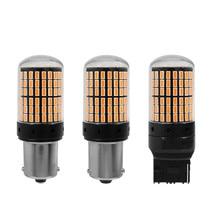 цена на 2pcs LED Signal Lamp 1156 BA15S P21W BAU15S PY21 Turn Signal Light 7440 W21Auto Rear CANBUS No Error Bulb Red Yellow White DC12V