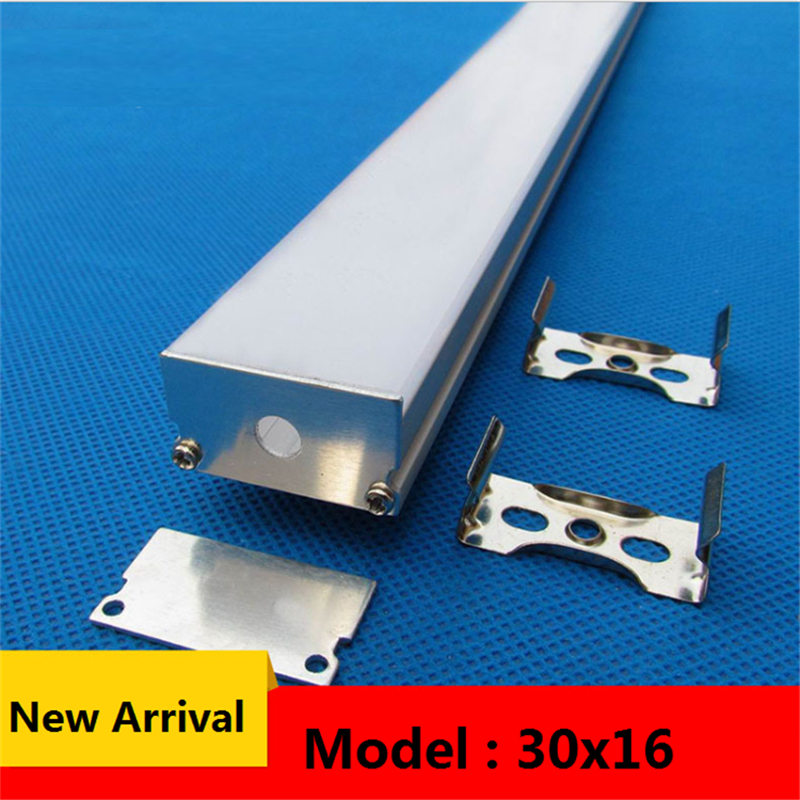 10-40pcs/lot 40inch 1m 30mm wide  led aluminium profile, flat 16mm high led lighting channel ,pendant hanging 24mm strip housing
