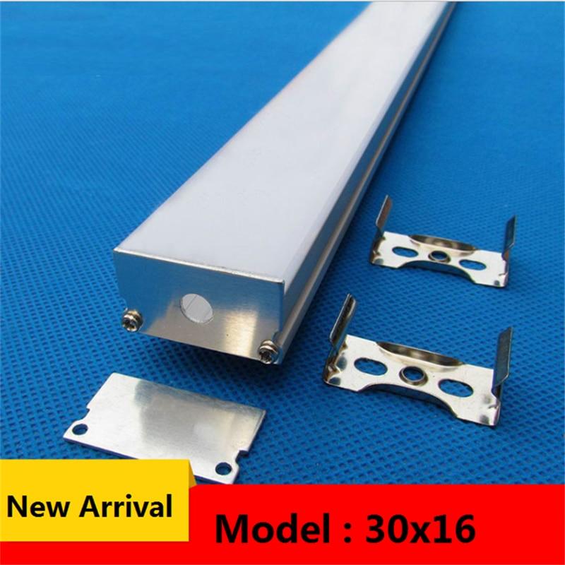 10-40pcs/lot 40inch 1m 30mm Wide  Led Aluminium Profile, Flat 16mm High Led Lighting Channel ,pendant Hanging 24mm Strip Housing