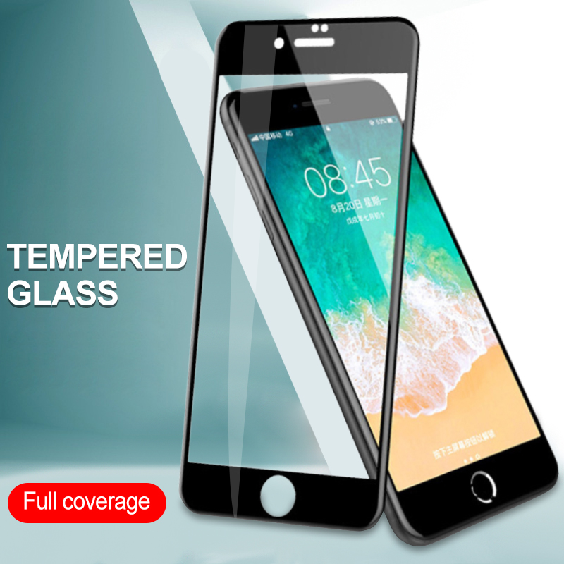 9H 2.5D Full Cover Toughened Tempered Glass Films For IPhone 6 6s Plus 7 8 Plus X XS 5 5s 5c SE Screen Protector Protective Film