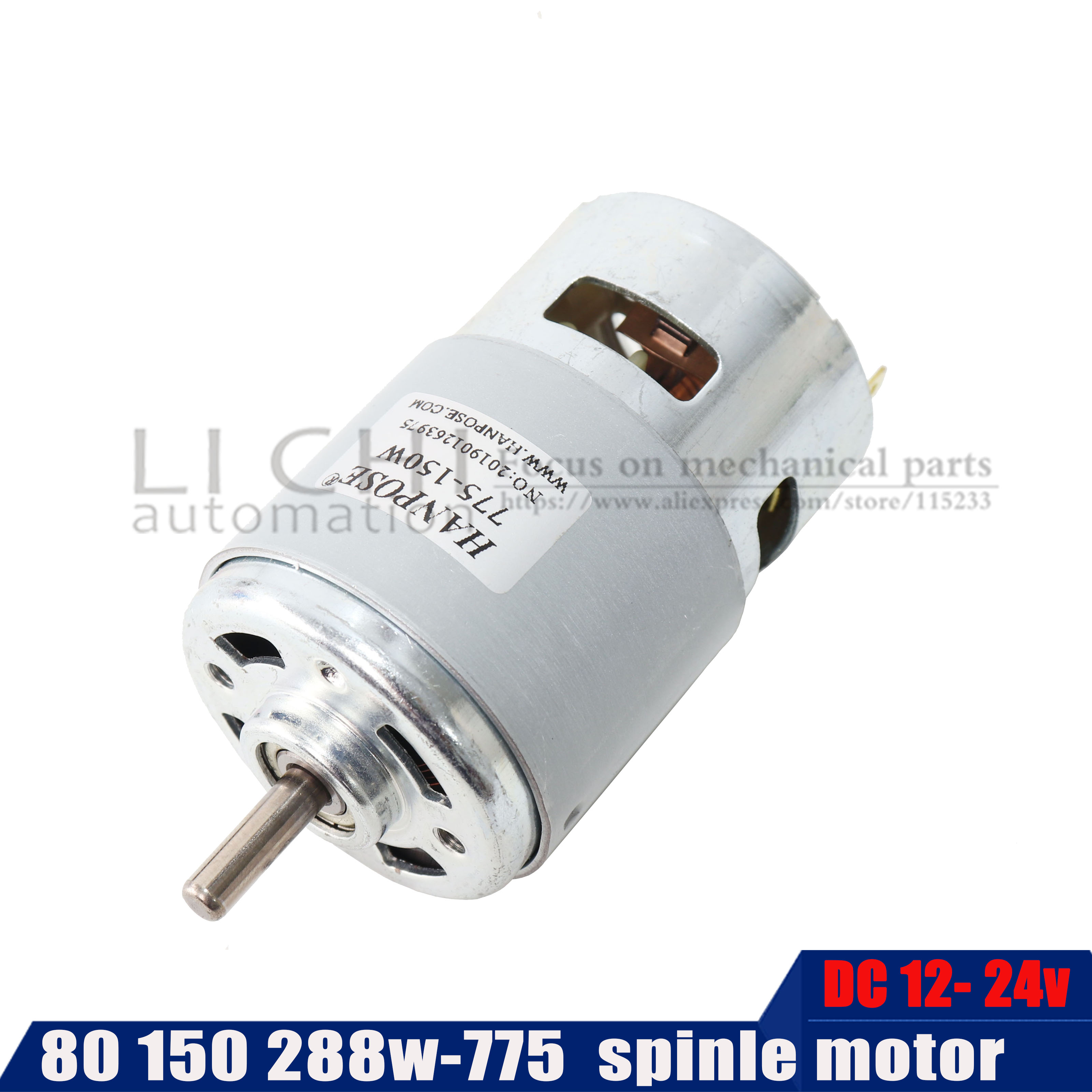 775 DC12 24V Electric spindle <font><b>Motor</b></font> For Drill 80W 150W <font><b>200w</b></font> 288W Brush <font><b>dc</b></font> <font><b>motors</b></font> lawn mower <font><b>motor</b></font> with two ball bearing Rated image
