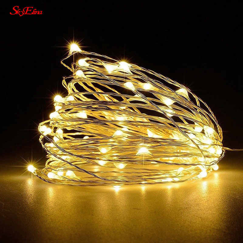 2M/20LED Copper Wire LED String lights Star String Lights For Wedding Home Party New Year Decoration 7zMM257