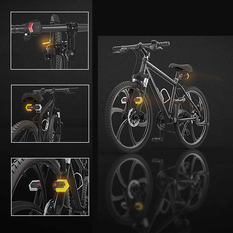 Details about  /Bike Tail Light Turn Signals With Wireless Bicycle Taillight Light