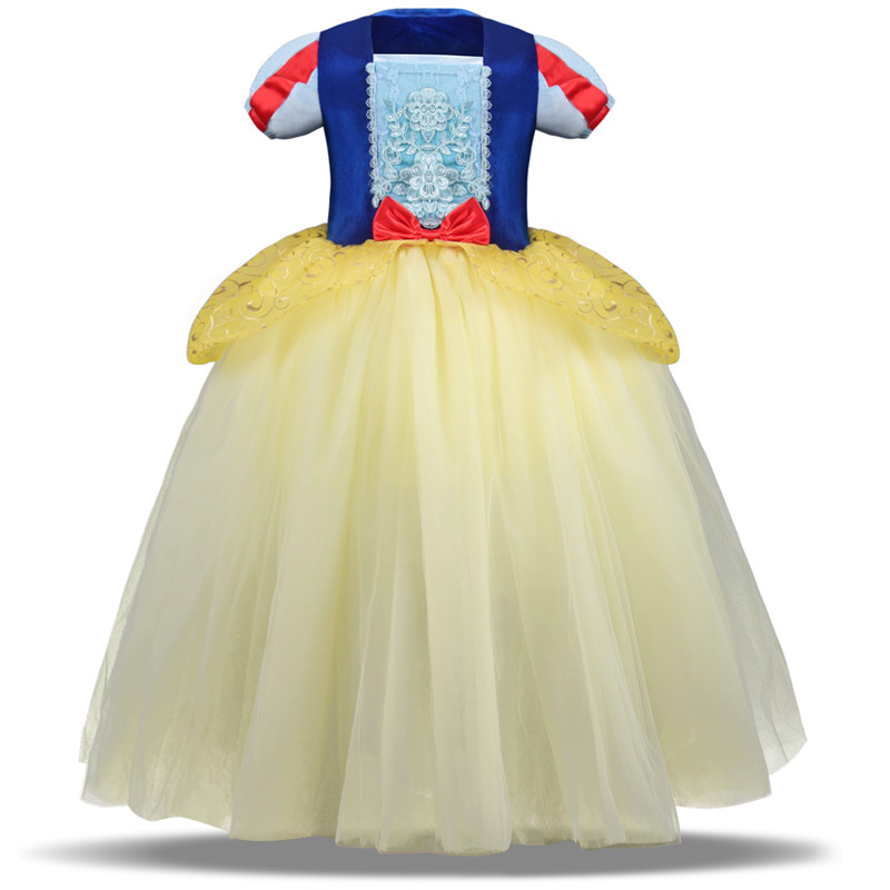 Hf4ec587966b241dda97a8891a9bc4589O 2019 Children Girl Snow White Dress for Girls Prom Princess Dress Kids Baby Gifts Intant Party Clothes Fancy Teenager Clothing