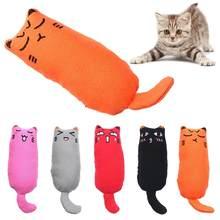 1pc gato de moagem brinquedo gato interativo de pelúcia gato brinquedo pet gatinho mastigando garras polegar mordida gato hortelã para gatos suprimentos para animais estimação