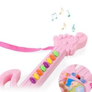 Image 4 - Elektro gitar oyuncak müzikal oyun çocuk Boy kız yürümeye başlayan öğrenme elektron oyuncak