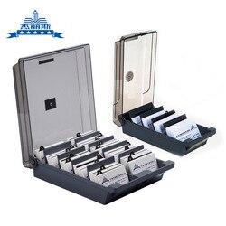 Jielisi 868 Extra de gran capacidad tarjeta de negocios caja de almacenamiento de tarjetas de negocios tarjetero de negocios