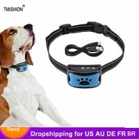 Haustier Hund Anti Bellen Gerät USB Elektrische Ultraschall Hunde Training Kragen Hund Aufhören Zu Bellen Vibration Anti Bark Kragen Dropship