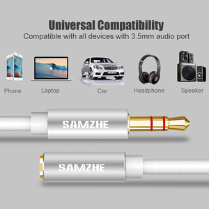 Image 5 - SAMZHE Jack 3.5mm Audio Extension Cord Aux Cable Extender Male to Female for Headphone  Laptop Music Player