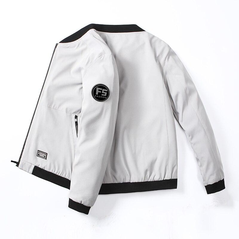 2020 Men Long Sleeve Baseball Bomber Jacket Thin Slim  Jackets Windbreaker Zipper Windbreaker Jacket Male Outwear Brand Clothing