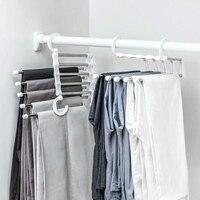 Accesorios para el hogar de acero inoxidable para ropa, perchero antideslizante 5 en 1, portátil, multifunción, ahorro de espacio