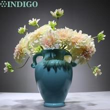Silk Pink Dahlia Daisy Bouquet Flower Arrangment Wedding Artificial Floral Even Party Free Shipping