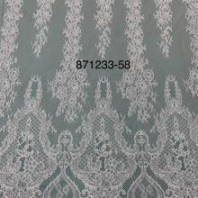 Chantilly Eyelash Lace Garment Soft French Lace  Higher Quality Chantilly Tulle Lace For Wedding Dress