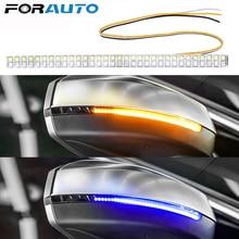 FORAUTO 1 шт. светодиодный светильник с сигналом поворота, Модифицированная полоска для автомобиля, зеркало заднего вида, индикаторная лампа для автомобиля