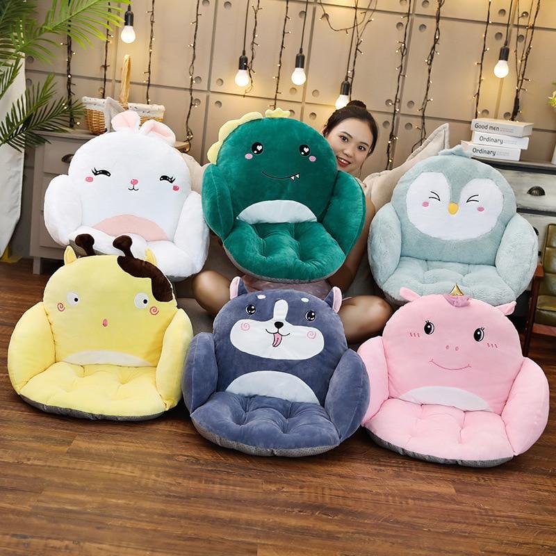 Creative Animal Series Children's Sofa Office Home Seat Waist Cushion Cartoon Stuffed Plush Toy Gift Holiday Present For Friends